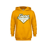Youth Gold Fleece Hoodie-Softball Plate Design