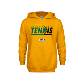 Youth Gold Fleece Hoodie-Tennis Abstract Net