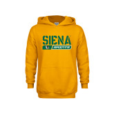 Youth Gold Fleece Hoodie-Siena Saints Bar Design