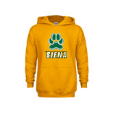 Youth Gold Fleece Hoodie-Siena w/Paw
