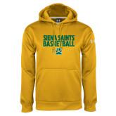Under Armour Gold Performance Sweats Team Hoodie-Siena Saints Basketball