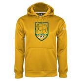 Under Armour Gold Performance Sweats Team Hoodie-Soccer Shield Design