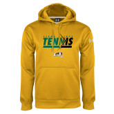 Under Armour Gold Performance Sweats Team Hoodie-Tennis Abstract Net