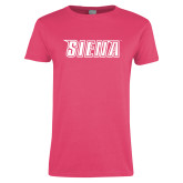 Ladies Fuchsia T Shirt-Siena