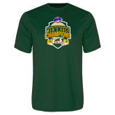 Performance Dark Green Tee-2016 MAAC Mens Golf Champions