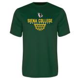 Performance Dark Green Tee-Basketball Sharp Net