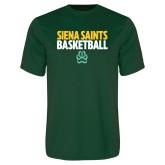 Performance Dark Green Tee-Siena Saints Basketball