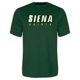 Performance Dark Green Tee-Siena Saints