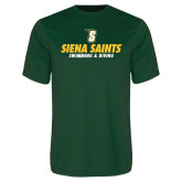 Performance Dark Green Tee-Swimming and Diving Design