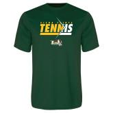Performance Dark Green Tee-Tennis Abstract Net