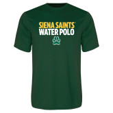 Performance Dark Green Tee-Water Polo Stacked