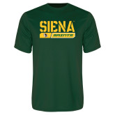 Performance Dark Green Tee-Siena Saints Bar Design