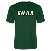 Performance Dark Green Tee-Siena