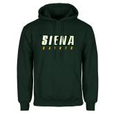 Dark Green Fleece Hood-Siena Saints