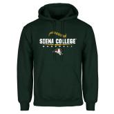 Dark Green Fleece Hood-Baseball Seams Design