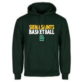 Dark Green Fleece Hood-Siena Saints Basketball
