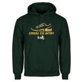Dark Green Fleece Hood-Cross Country Shoe Design