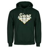 Dark Green Fleece Hood-Softball Plate Design