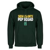 Dark Green Fleece Hood-Pep Squad Stacked