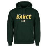 Dark Green Fleece Hood-Dance Design