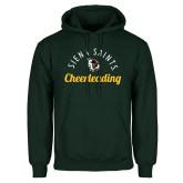 Dark Green Fleece Hood-Cheerleading Script Design