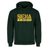 Dark Green Fleece Hood-Siena Saints Bar Design
