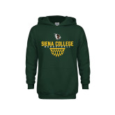 Youth Dark Green Fleece Hoodie-Basketball Sharp Net