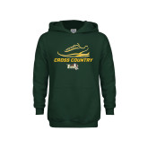 Youth Dark Green Fleece Hoodie-Cross Country Shoe Design
