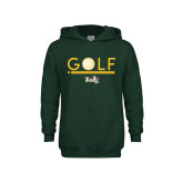 Youth Dark Green Fleece Hoodie-Golf Ball Design