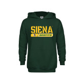 Youth Dark Green Fleece Hoodie-Siena Saints Bar Design