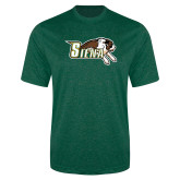 Performance Dark Green Heather Contender Tee-Official Logo