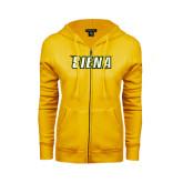 ENZA Ladies Gold Fleece Full Zip Hoodie-Siena