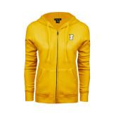 ENZA Ladies Gold Fleece Full Zip Hoodie-S
