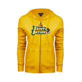 ENZA Ladies Gold Fleece Full Zip Hoodie-Saint Sation