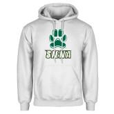 White Fleece Hoodie-Siena w/Paw