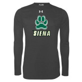Under Armour Carbon Heather Long Sleeve Tech Tee-Siena w/Paw