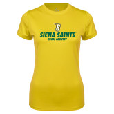 Ladies Syntrel Performance Gold Tee-Cross Country Design