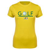 Ladies Syntrel Performance Gold Tee-Golf Ball Design