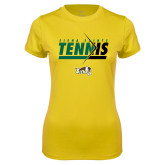 Ladies Syntrel Performance Gold Tee-Tennis Abstract Net