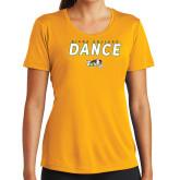 Ladies Syntrel Performance Gold Tee-Dance Design