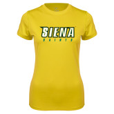 Ladies Syntrel Performance Gold Tee-Siena Saints