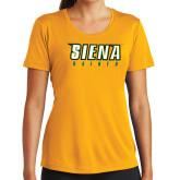 Ladies Syntrel Performance Gold Tee-Siena Saints