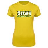 Ladies Syntrel Performance Gold Tee-Swimming-Diving