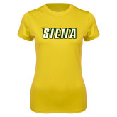 Ladies Syntrel Performance Gold Tee-Siena