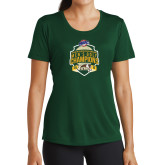 Ladies Performance Dark Green Tee-2016 MAAC Mens Golf Champions