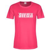 Ladies Performance Hot Pink Tee-Siena