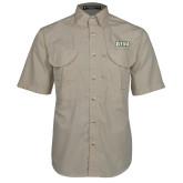 Khaki Short Sleeve Performance Fishing Shirt-Siena
