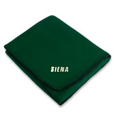 Dark Green Arctic Fleece Blanket-Siena