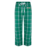 Green/White Flannel Pajama Pant-Siena