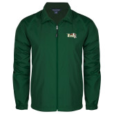 Full Zip Dark Green Wind Jacket-Official Logo